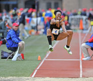 2012 Track and Field - Triple Jump flight Royalty Free Stock Photography