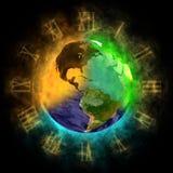 2012 - Transformation des Bewusstseins auf Erde Stockbilder