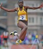 2012 trilha - salto longo das meninas Foto de Stock