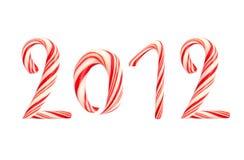 2012 trzciny boże narodzenia odizolowywający lizak robić Obraz Royalty Free