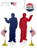 2012 U.S. Presidential Election poster and backgro Royalty Free Stock Images