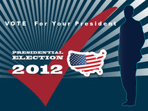 2012 U.S. Presidential Election poster and backgro Stock Image