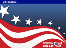 2012 U.S. Presidential Election poster background Royalty Free Stock Photography
