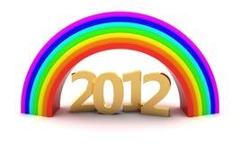2012 under rainbow Royalty Free Stock Image