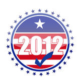 2012 usa flag seal illustration design. Over white background Royalty Free Stock Images