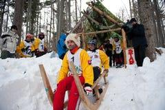 2012 uzbrajać w rogi rasy saneczki Slovakia turecka Zdjęcia Royalty Free