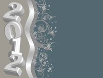 2012 Vector image with copy space!. An image of the numbers 2012 with decorative design. Great for New Years Royalty Free Stock Photography