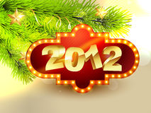 2012 vector new year design. Beautiful 2012 happy new year vector design Royalty Free Illustration