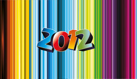 2012 vector numbe. R over a color background Royalty Free Stock Image