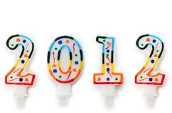 2012 - velas do bolo Fotografia de Stock