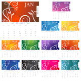 2012 Victorian Calendar Page Royalty Free Stock Photos