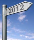 2012 volgend jaar verkeersteken Stock Foto