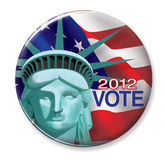 2012 Vote Button. Digital illustration of 2012 Vote Button Stock Photo