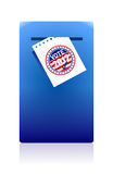 2012 voting paper in a blue ballot box. Illustration design Stock Images