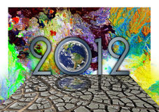 2012 Wallpaper Royalty Free Stock Photography