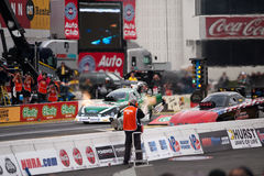 2012 Winternationals John Force funny car. Stock Image