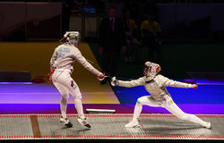 2012 World Fencing Championships in Kyiv Stock Image