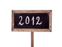 2012 written on a blackboard Royalty Free Stock Image