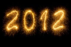 2012 written in sparkling letters Royalty Free Stock Photos