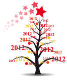 2012 xmas tree. Illustration of xmas tree with 2012 year Stock Images