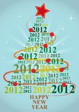 2012 xmas tree. Illustration of xmas tree with 2012 year Royalty Free Stock Image