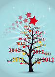 2012 xmas tree. Illustration of xmas tree with 2012 year Stock Image