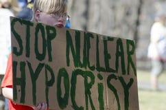 2012 yankee för april kärn- protestvt Arkivfoto