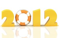 2012 year. 3D rendered Illustration Royalty Free Stock Image