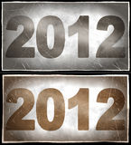 2012 Year royalty free illustration