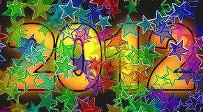 2012 Year. Graphic and artistic illustration, can be used as a holiday background also as a separate part for your project royalty free illustration