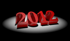 2012 year. 3d concept of upcoming 2012 year Royalty Free Stock Photo