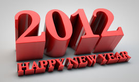 2012 year. 3d concept of upcoming 2012 year Royalty Free Stock Photography