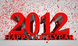 2012 year. 3d concept of upcoming 2012 year Royalty Free Stock Photos