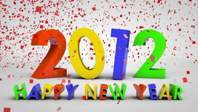 2012 year. 3d concept of upcoming 2012 year Stock Images