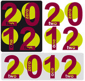 2012 year. Illustration set of 2012 number year stock illustration