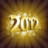 2012 Year. Poster, Vector Illustration Stock Illustration