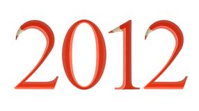 2012 year. Write down all your wishes for 2012 Stock Photography