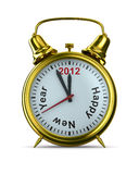 2012 year on alarm clock Stock Photography