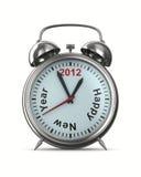 2012 year on alarm clock. 3D image stock illustration