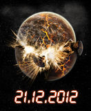 2012 year of the apocalypse. Made with photoshop CS4 stock illustration