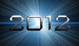 2012 year of the apocalypse. Blue background vector illustration