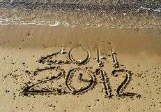 2012 year on the beach of Eilat, Israel Royalty Free Stock Photos