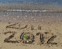 2012 year is coming in the beach of Eilat, Israel Stock Photos