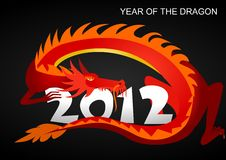 2012: Year of the dragon Royalty Free Stock Image