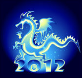 2012 year Dragon. 2012 year design with a Dragon Stock Photography