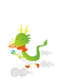 2012, year of the dragon. New year greeting card design stock illustration