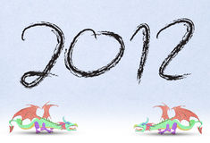 2012 Year   the dragon. 2012 Year of the dragon Royalty Free Stock Photo