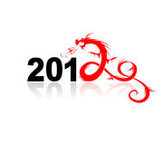 2012 year of dragon, illustration for your design.  Stock Images