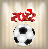 2012 year football. 2012 year holiday football illustration royalty free illustration