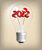 2012 year holiday illustration. With bulb royalty free illustration